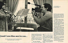 PUBLICITE ADVERTISING  1978   CANON   caméra 514 XLS (2 pages)