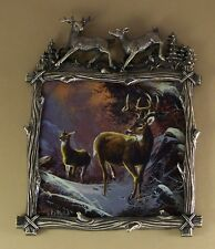 Wilderness Glory Winter'S Majesty #3 Plate Plaque Deer Buck Doe Mib + Coa