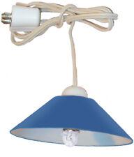 Deckenlampe, Hängelampe blau mit LED für Puppenhaus, Kahlert 10596