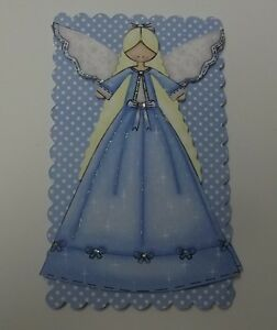 PK 2 SNOWFLAKE ANGEL EMBELLISHMENT TOPPERS FOR CARDS OR CRAFTS