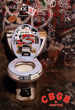 CBGB Bathroom Poster, Toilet, Porcelain God, Punk Music Venue, New York City