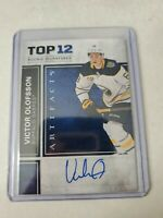 2020-21 Artifacts Victor Olofsson Top 12 Rookie Signatures MINT!! Buffalo Sabres