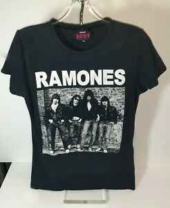 THE RAMONES T shirt Vintage Mens Women unisex black white Red Rock band music