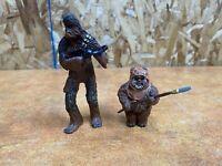 2007 Star Wars  Return Of The Jedi WICKET Ewok and chewbacca  PVC Figures