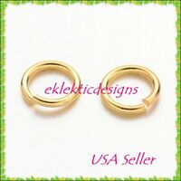 7mm 18gauge 100pcs BRASS Gold Plated Open Jump Rings Findings Earrings Necklace