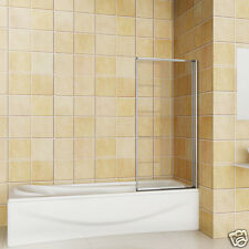 700x1400 1 Folding Chrome Shower Bath Screen Glass Door Panel NEXT DAY DELIVERY