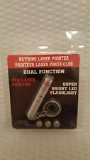Dual Function Red Laser Pointer w/ Super Bright Led Flashlight (with Batteries)