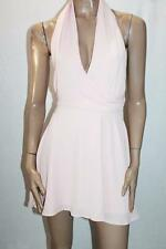 AVA Designer Pink Crepe Halter Dress Size 8 BNWT #SD47