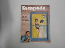 Escapade men's magazine vol. 3 #3 from April 1958! Early adult mag! Thomas Wolfe
