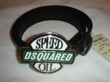 .DSQUARED2 VERY RARE  SPEED OIL BLACK SKINNY BELT  ITALY SIZE XL
