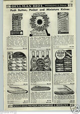 1952 PAPER AD Jackmaster Automatic Press The Button Pocket Knife Knives