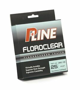 P-Line FCCF-30 Floroclear Fluorocarbon Coated Monofilament 30 Lb 300 Yards Clear