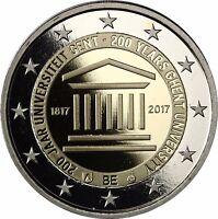 Belgien 2 Euro 200 Jahre Universität Gent 2017 Polierte Platte Münze im Etui