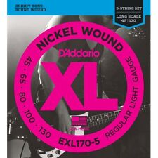 D'addario 6 Sets EXL170-5  String Bass Strings Electric Long Scale .045-.130