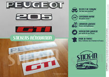 Autocollants Stickers Peugeot 205 GTI Renovation Monogrammes Arrière Logo Badges