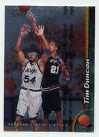 1998-99 Topps Finest TIM DUNCAN #190 San Antonio Spurs BASKETBALL CARD W/COATING