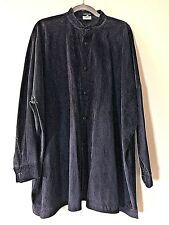 ESKANDAR Suede Leather Lightweight Luxury Shirt Jacket Tunic Top  L XL XXL $3980