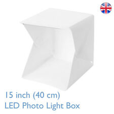 Medium Folding 40CM Photo Studio Kit MK 40 2x Strip Light Box Cube Tent UK Stock
