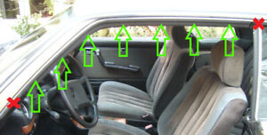 2nd choice SET front sealing on frame/window A-C pillar W123 C123 Coupe CE/CD