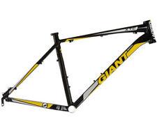 "GIANT XTC 26"" ALUMINUM BICYCLE FRAME BLACK/ YELLOW XLARGE 22'' W/HEADSET"