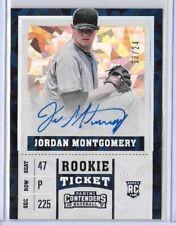 2017 Panini Contenders Jordan Montgomery Cracked Ice RC Auto 13/24 Yankees