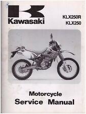 Manuel de Atelier Service Manuelle Kawasaki KLX250R KLX250 1993 99924-1165-01