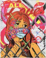 MR CLEVER ART POST APOCALYPTIC ALL LOVE NOTES street art urban graffiti print