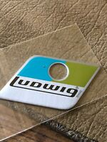 Ludwig Blue And Olive Repro Drum Badge For Bass Tom Or Snare