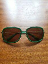 Versace Green Greek Chain Gold Sunglasses