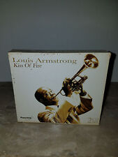 LOUIS ARMSTRONG - KISS OF FIRE (2 CD, Pazzazz) *Like New*