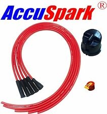 Lotus Twin-cam 25D,Distributor side cap AccuSpar Red Rotor& HT leads 95cm