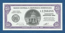 DOMINICAN REPUBLIC -- 50 CENTAVOS ORO ND ( 1961 ) -- UNC -- A -- PICK 89a .