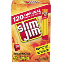 Slim Jim Original Gravity Feed Box 120 ct. Smoked Snack Meat Stick