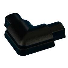 16mm x 8mm NERO LISCIO-Fit Trunk Destro Angolato Adattatore – scarico curva a 90 gradi