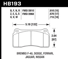 Hawk Disc Front Brake Pad for 03-09 Dodge Viper SRT-10 # HB193F.670