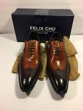 Felix Chu Oxfords Genuine Leather Lace up Wingtip, EU Size 46 (US Size 12/12.5)