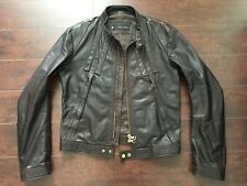 EUC DSQUARED2 MEN'S (*RARE) Brown Leather Motorcycle (Biker) Jacket – XL EU – 52