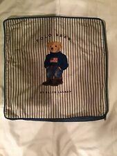 Vintage Polo Bear, Ralph Lauren 18x18 Zippered Pillow Cover