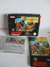 Super Nintendo SNES Jeu TINTIN LE TEMPLE Tintin temple du soleil neuf dans sa boîte