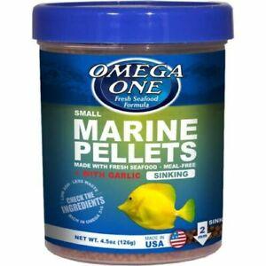3-lb OMEGA ONE Garlic Marine Pellet Sm, FREE 12-Type Ultra Pellet Blend Included