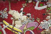 Funny Santa red Christmas Wilmington fabric