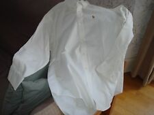 Authentic Polo by Ralph Lauren White Shirt Long Sleeves 100% Cotton 20 Vintage