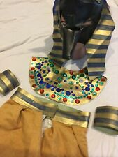 Handmade Egyptian God Anubis Costume Child 6 7 8 Collar Mask Toga Legbands OOAK