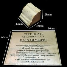 RMS Olympic Wood With COA
