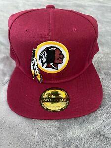 Vintage Throwback Washington Redskins Embroidered Logo Snapback Cap Hat NEW NWT
