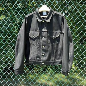 Helmut Lang Masc Trucker Jacket Contrast Stitching Mens Size XXL - RARE Archive