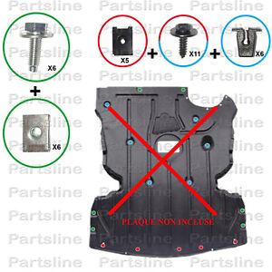 KIT DE FIXATION DE PLAQUE SOUS MOTEUR BMW SERIE 1 & 3 - E87 E88 E90 E91 E92 E93