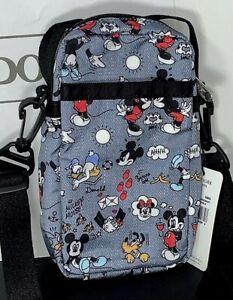 LeSportsac x Disney Mini Phone Crossbody Bag Mickey Doodle 3505 G803 New P-2