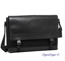 NWT COACH MENS SPORTS PERFORATED LEATHER MESSENGER CROSSBODY BAG F71969 BLACK