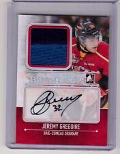 JEREMY GREGOIRE 13/14 ITG Rookie SILVER Auto Autograph Jersey #/19 SP Canadiens